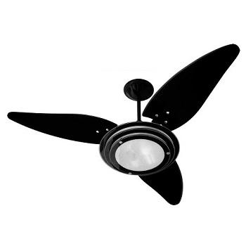 Ventilador De Teto New Delta Black C/lustre E 3 Velocidades