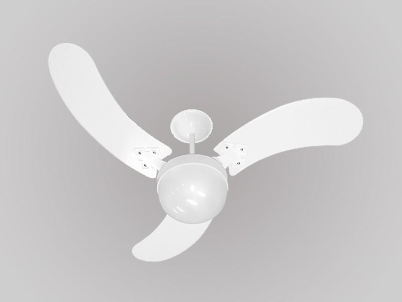 Ventilador de Teto New Montana 3 Pás Laqueadas Branco 127v Venti Delta