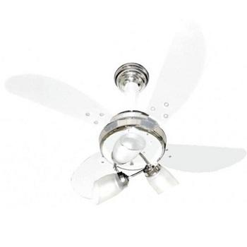 Ventilador De Teto Sideral 4pás Branco/cromo Ventidelta 127v