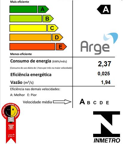 Ventilador De Teto Ventus 3 Pas Mogno e Motor Preto Arge 127v