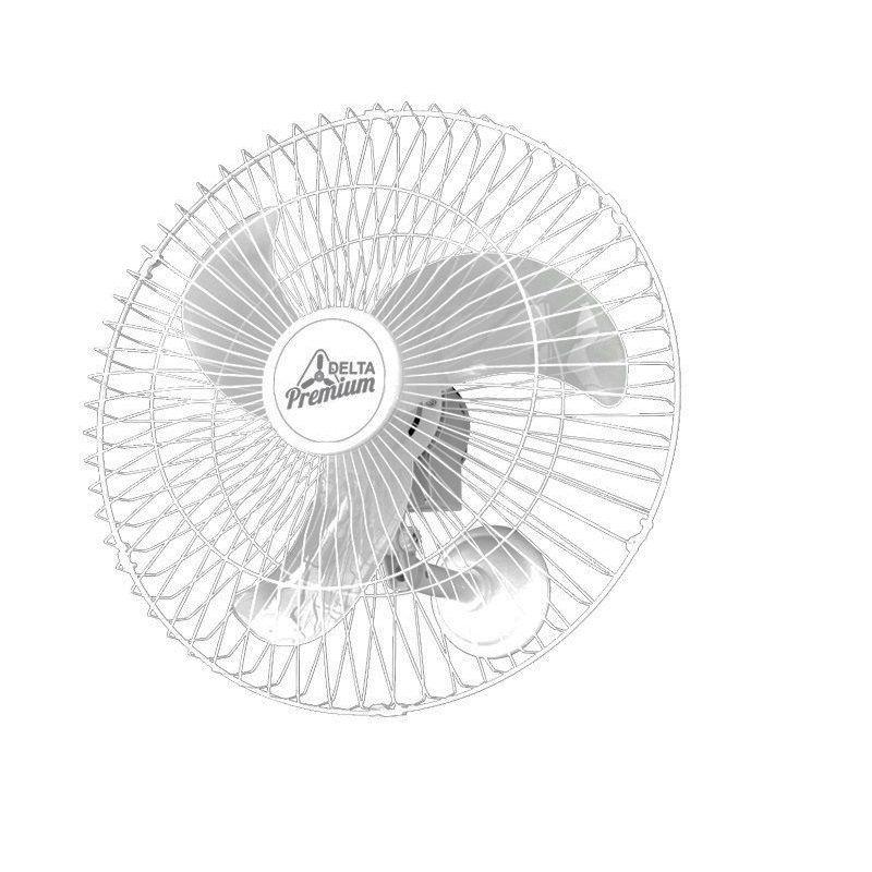 Ventilador Oscilante de Parede 60 Cm Branco Bivolt Venti-Delta 73-6423