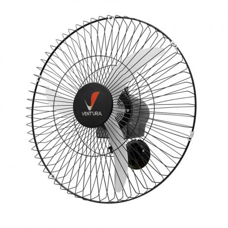 Ventilador Oscilante de Parede Ventura 60 Cm Preto Bivolt Super Economia de Energia