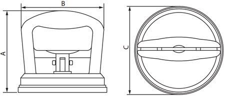 Ventosa Simples para Vidro / Porcelanato até 30kg Cortag
