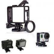 Armação Frame Trava Andfr-301 e Protetor Lente para Câmeras GoPro Hero 3, 3+, 4