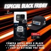 Câmera GoPro Hero 8 Black + Boné GoPro + Cartão Extreme Pro 32 GB - Especial Black Friday