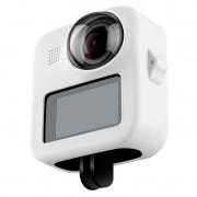 Capa em Silicone Branco + Tampa de Proteção Para GoPro Max