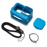 Capa em Silicone Para GoPro 9 - Azul