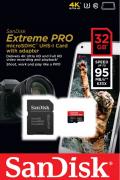 Cartão Memória Micro Sandisk Sdhc UHS-I 32gb Extreme Pro U3 4K