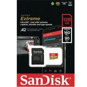 Cartão Memória SanDisk Extreme A2 MicroSdhc 128gb 160M-90M