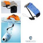 Bóia De Flutuação Braço Punho Azul para câmeras de ação