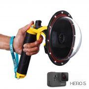 Dome Telesin 6' com Estanque, bastão e gatilho para GoPro Hero 5, 6, 7