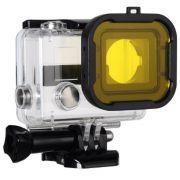 Filtro de Mergulho Amarelo para Câmeras GoPro Hero 3+, 4