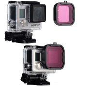 Filtro de Mergulho Magenta para Câmeras GoPro Hero 3+, 4