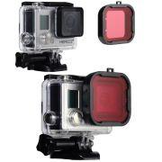 Filtro de Mergulho Vermelho para Câmeras GoPro Hero 3+, 4