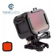 Filtro de Mergulho para GoPro Hero Session 4, 5 - Vermelho