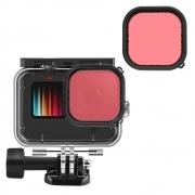 Filtro Mergulho Vermelho Claro para GoPro 9