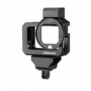 Frame em Alumínio Para GoPro 8 Com encaixe de Microfone Externo - Ulanzi