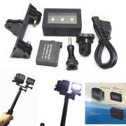 Suporte para Câmera E Flash para Câmeras de Ação GoPro Hero SJCam