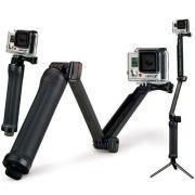 Bastão 3 Formas 3way Garra Tripé para Câmeras de Ação GoPro Hero SJCam Xiaomi
