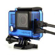 GoPro Caixa Estanque Aberta Vazada - Hero 3/3+/4 - Azul