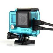 Caixa Estanque Aberta Vazada para GoPro Hero 3, 3+, 4 - Verde