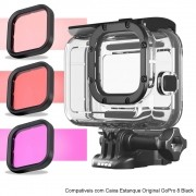 Kit 3 filtros para Caixa Estanque Original GoPro 8 Black