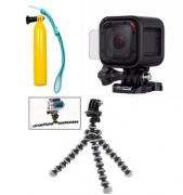 Kit 3 Peças GoPro - Flutuador, Mini Tripé e Película Session