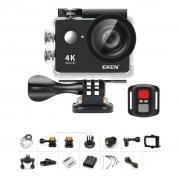 KIT Câmera Eken Preta H9R Full HD 4K 20MP, Tela LCD 2 + Controle + Acessórios