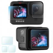 Película de vidro para lente e LCD Frontal/Traseiro GoPro Hero 9 Black