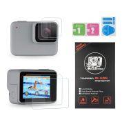 Películas de Vidro para Lente e LCD GoPro Hero 7 White Silver