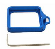 Proteção Anel Metálico para Câmeras GoPro Hero 3+, 4 - Azul