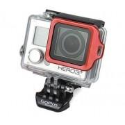 Proteção Anel Metálico para Câmeras GoPro Hero 3+, 4 - Vermelho