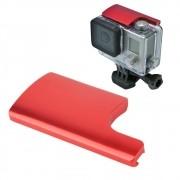 Trava Segurança em Alumínio para GoPro Hero 3+, 4 - Vermelha