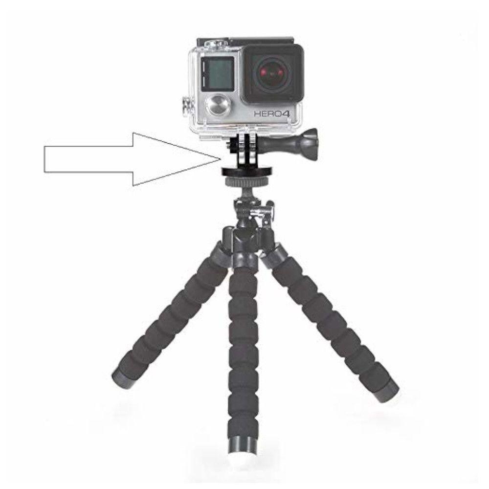 Adaptador de tripé em alumínio para Câmeras de Ação GoPro Hero SJCam