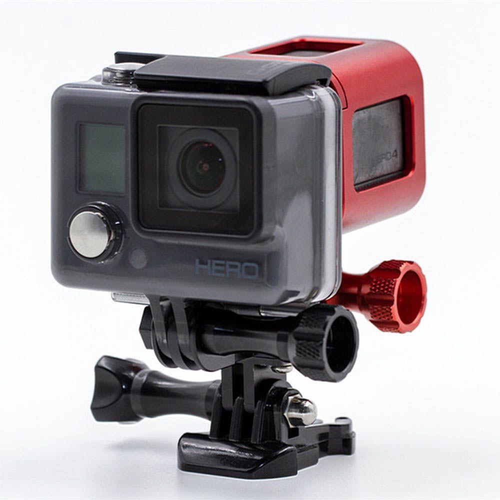 Adaptador e Suporte Duplo Para Duas Câmeras em Alumínio para GoPro Hero SJCam Xiaomi