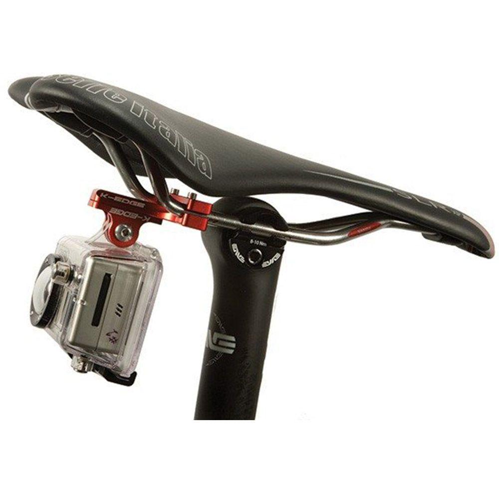 Adaptador Suporte Bike Banco Pro Seat Rail Mount para GoPro Hero SJCam Xiaomi - Vermelho