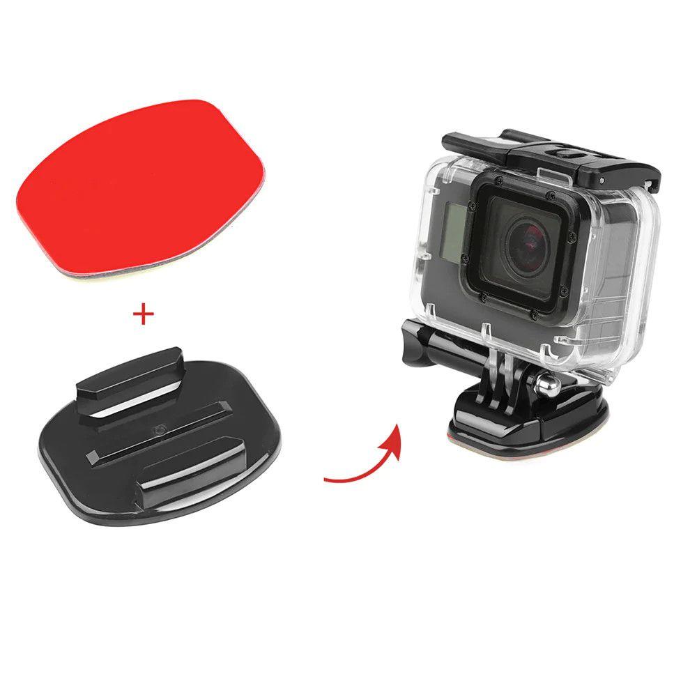 Adesivo E Base Plana Reta para fixação de GoPro Hero SJCam