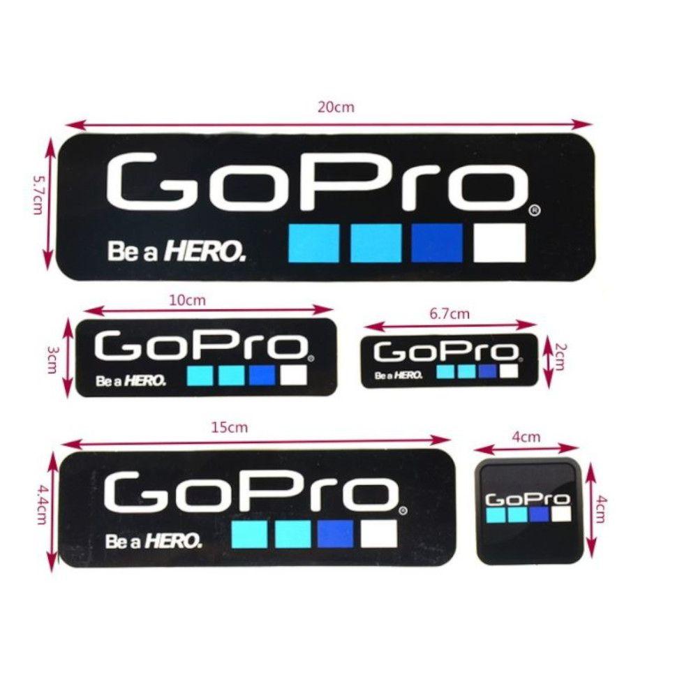 Cartela de Adesivos GoPro 9pc PB e BR