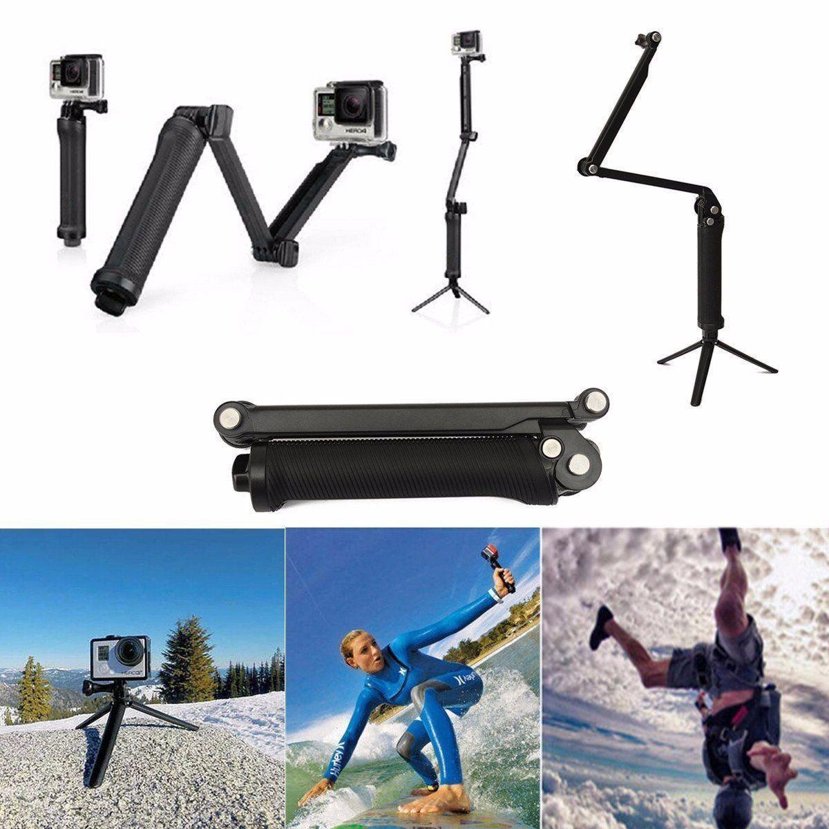 Bastão 3 Formas 3Way Telesin Prova D'água para câmeras de ação