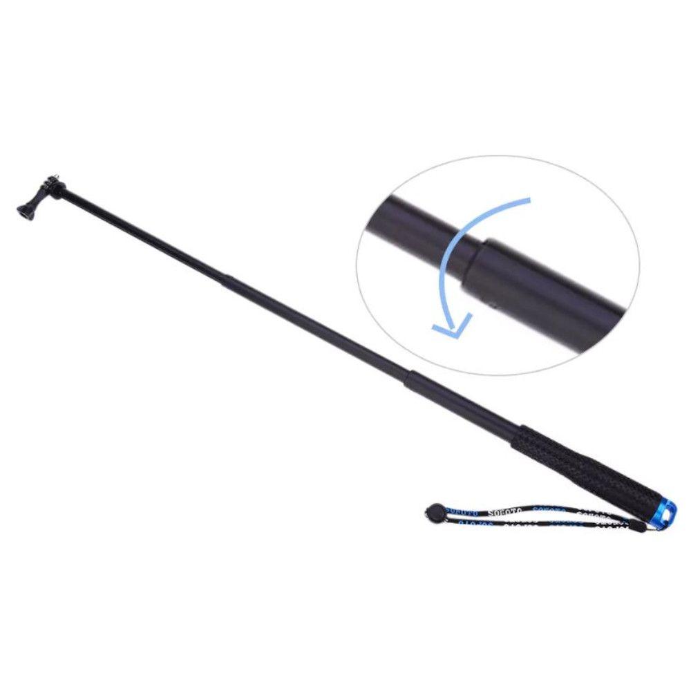 Bastão Alumínio Retrátil Monopod 25-90cm para Gopro, SJCam - Azul