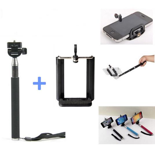 Kit Bastão para Celular ou Máquina Digital + Suporte de celular