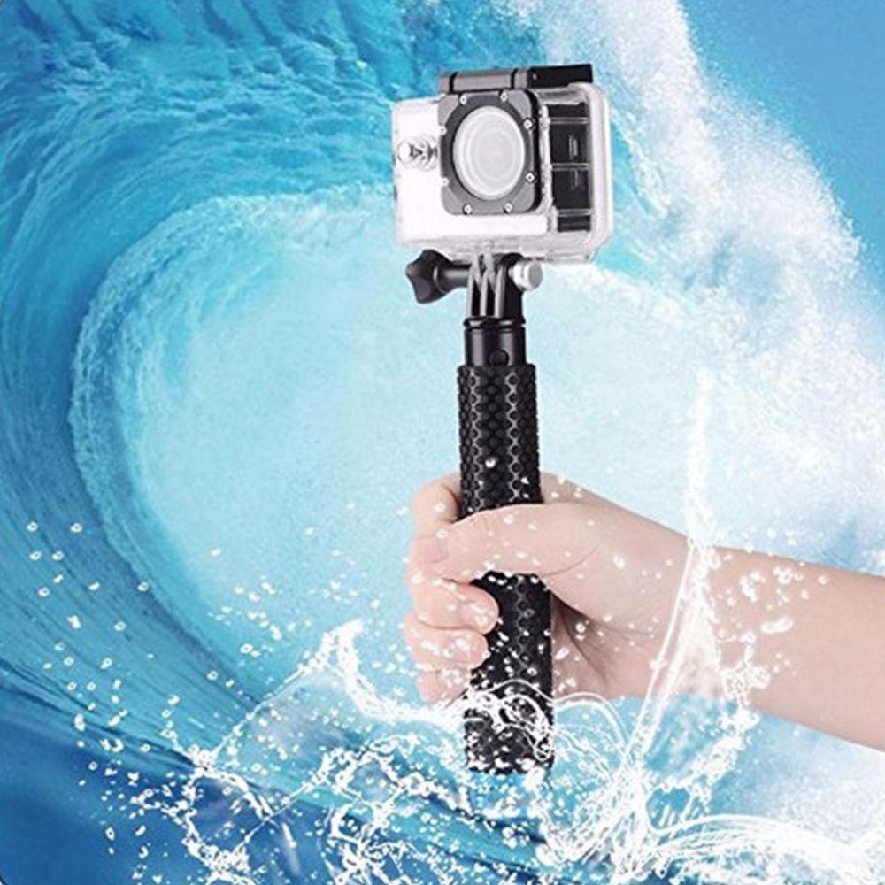 Bastão Retrátil Prova D'água 18-48cm para GoPro Hero SJCam Xiaomi - Vermelho