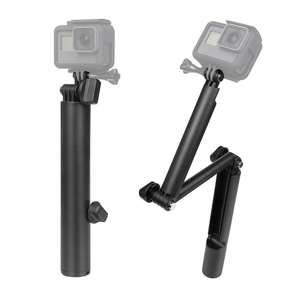 Bastão Selfie 3 way monopod prova d'água para GoPro e SJCam