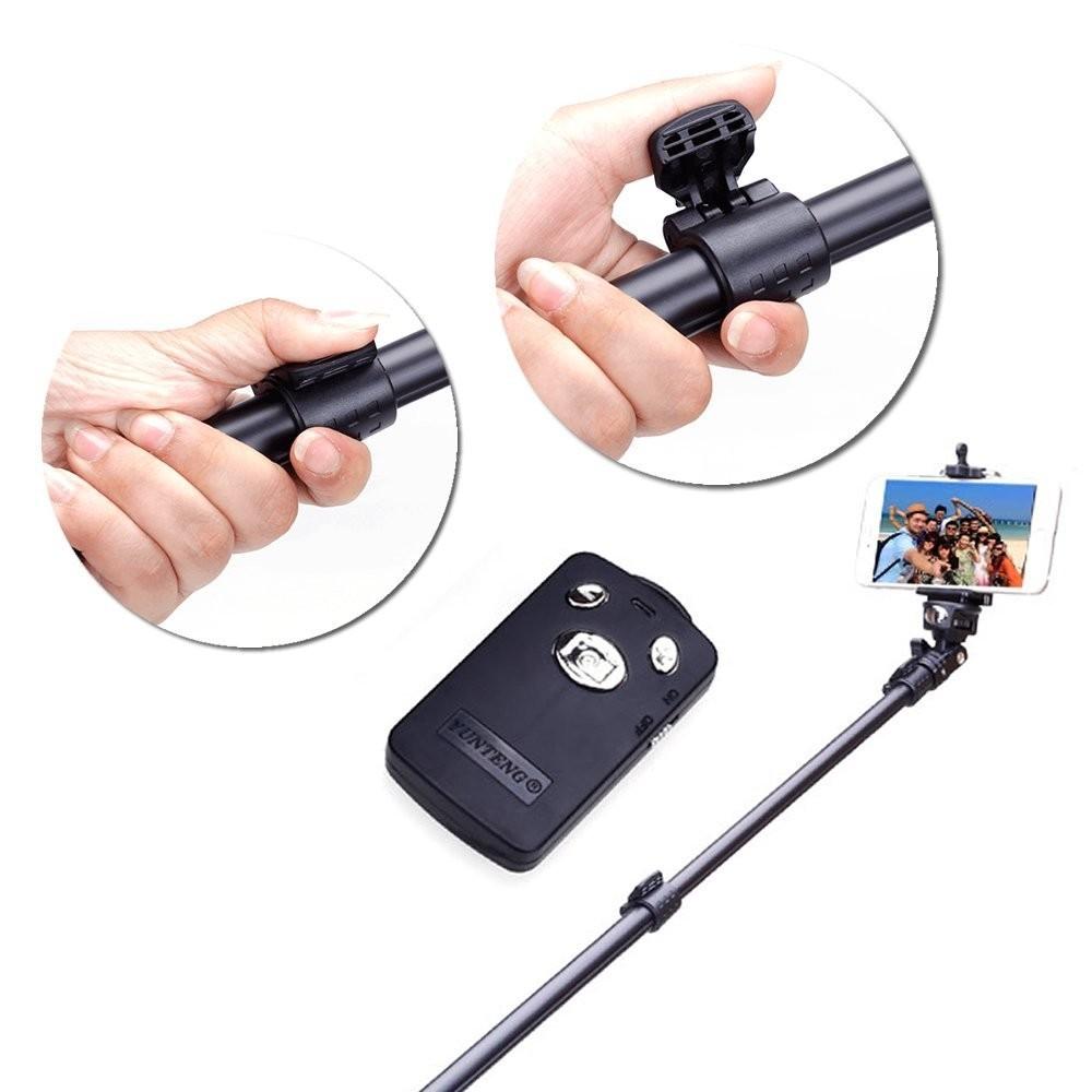 Bastao Yunteng Aluminio Selfie Prova D'agua Bluetooth Controle Remoto  42,cm - 1,5mt GoPro 1-6