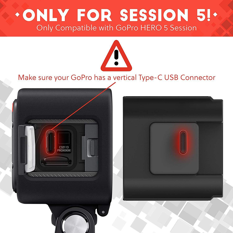 Bateria e Caixa estanque extra BacPac para Gopro Session 5