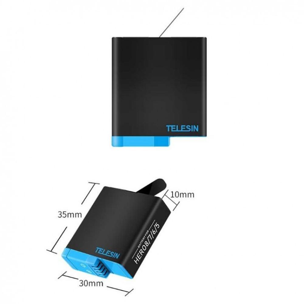 Bateria para GoPro Hero 8 7 6 5 Black  - Telesin