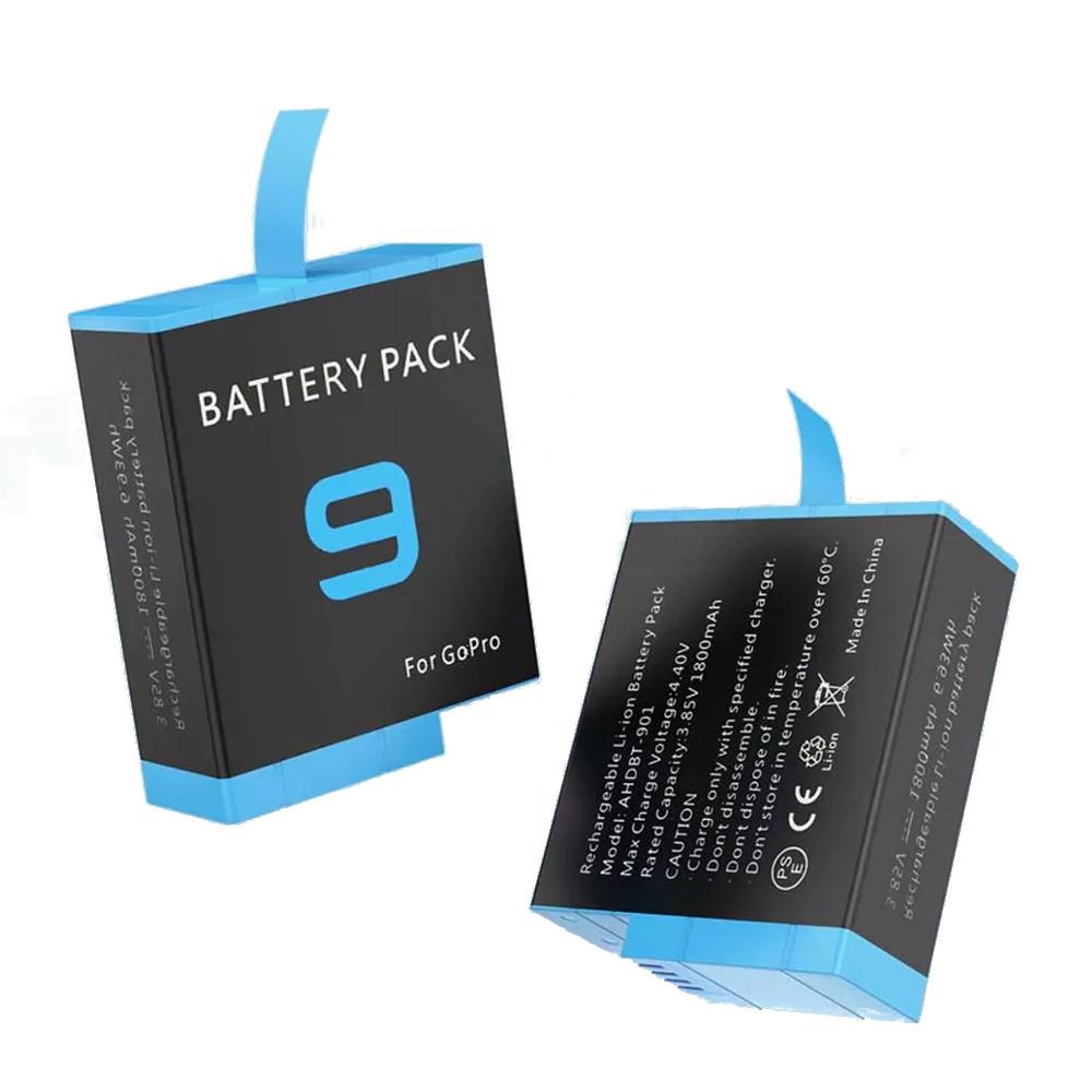 Bateria Recarregável Shoot 1800mAh para GoPro 9 e 10 Black