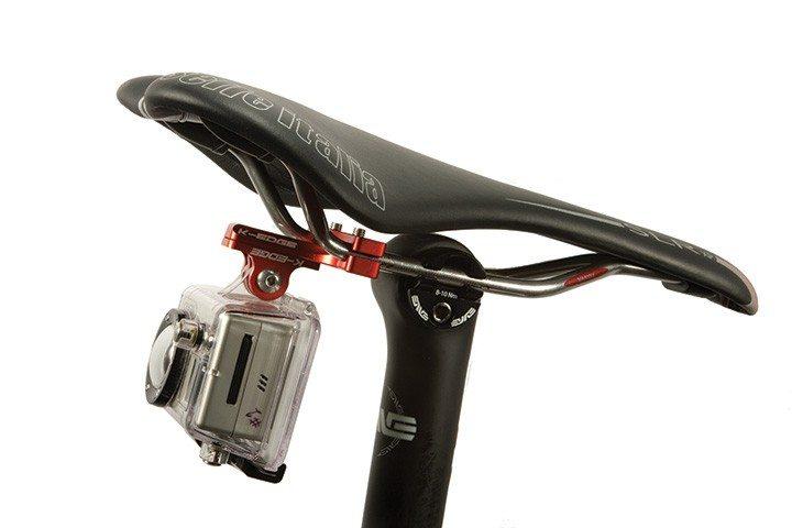 Adaptador Suporte Bike Banco Pro Seat Rail Mount para GoPro Hero SJCam Xiaomi - Preto