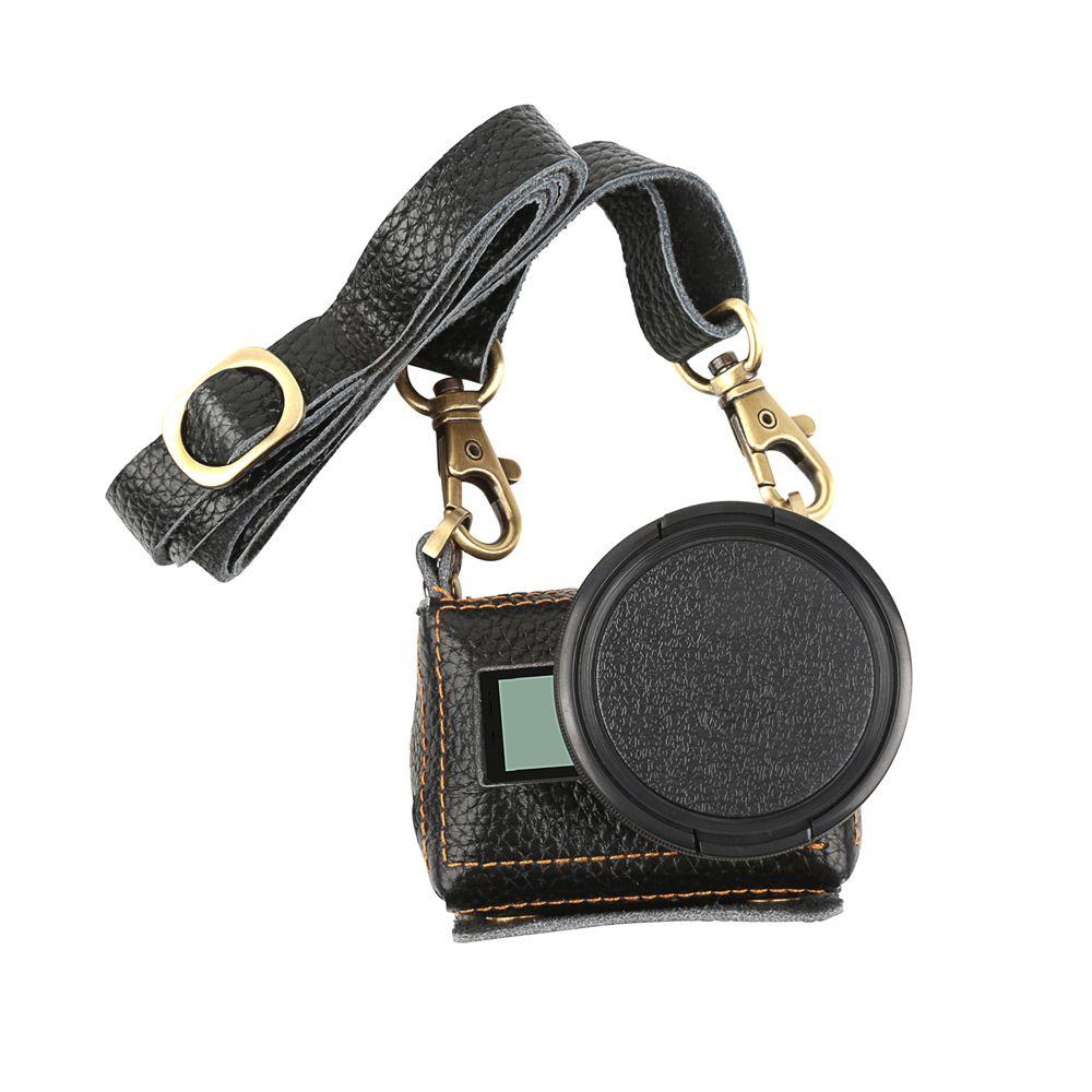 Bolsa Capa Case Protetora em Couro Artesanal para GoPro 5/6/7 - Preto