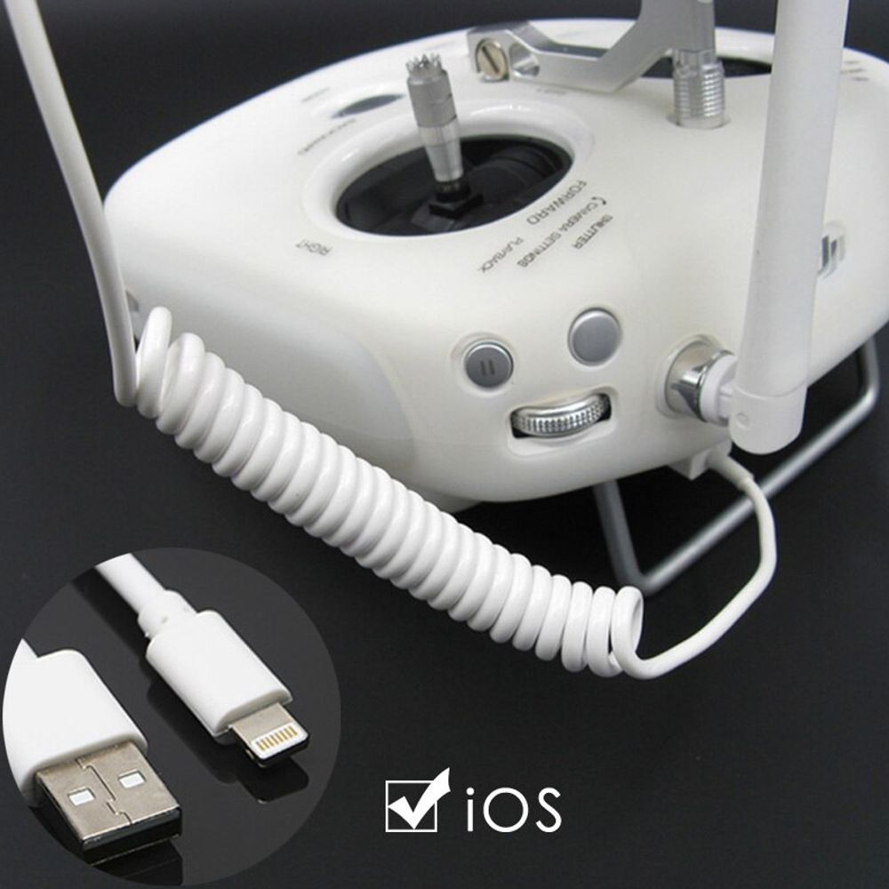 Cabo USB IOS Iphone Ipad Controle Drone Dji Phantom 3 4 Series Inspire 1